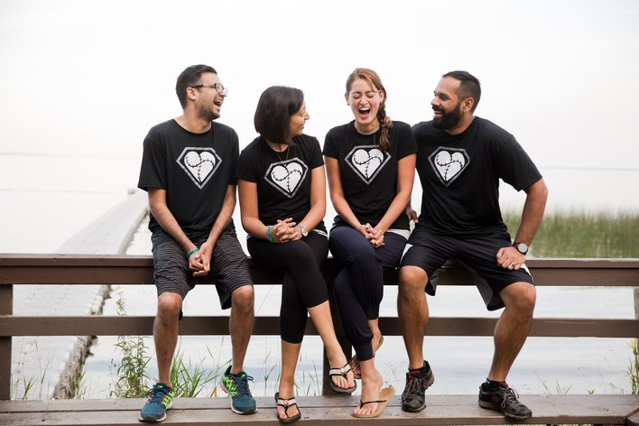 ELiHP Heart Heroes L to R: Camp founder, Devin Chetan; Medical Director, Rehana Chatur; and camp medical staff, Melissa Chan and Vijay Anand