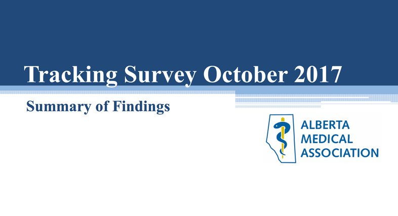 Tracker Survey Report Cover